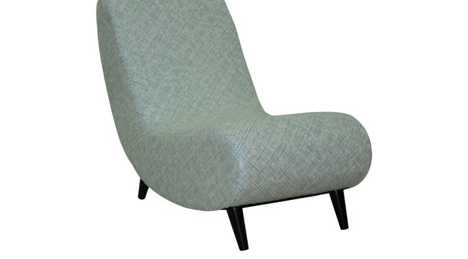 Mostly Mod Aqua (light blue)  Lounge Chair Polyester