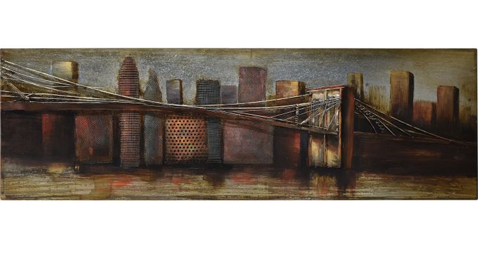 City Bridge Wall Decor - Rustic