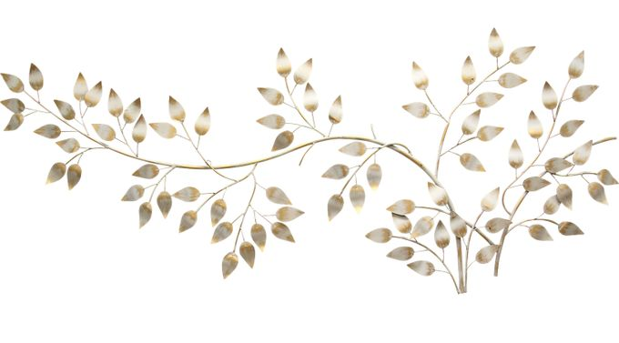 Flowing Leaves Gold Wall Decor - Traditional