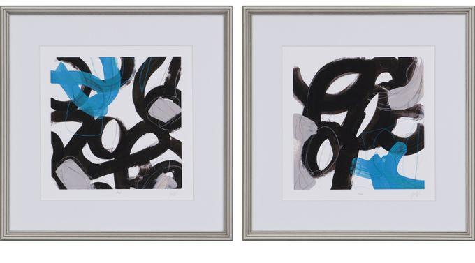 Isbell III Blue Set of 2 Artwork - Contemporary