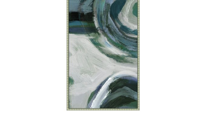 Laswell I Teal Artwork - Contemporary