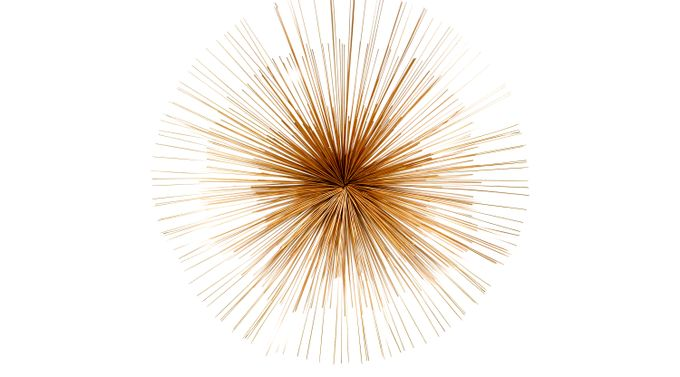 Palmoli Gold Wall Decor - Contemporary