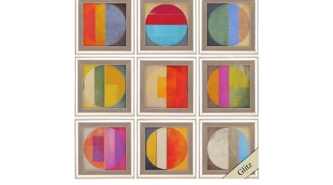 Pattern Tiles Set of 9 Artwork - Contemporary