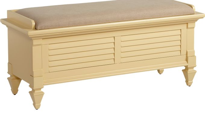 Belmar Yellow Storage Bench - Transitional