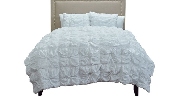 Adrina White 3 Pc King Comforter Set