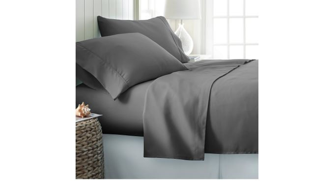 Belden Landing Gray 4 Pc King Bed Sheet Set