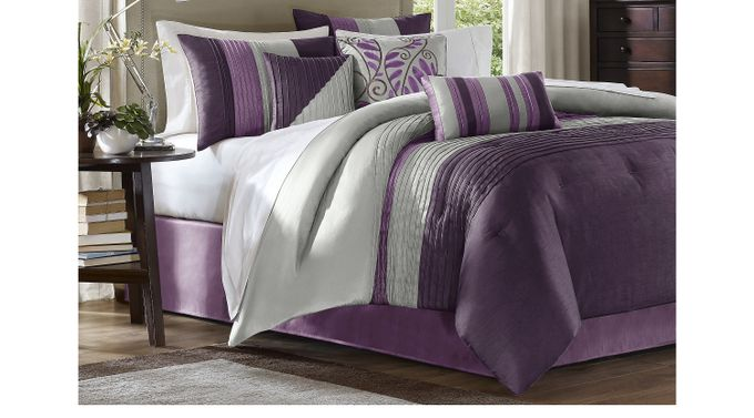 Brenna Purple 7 Pc King Comforter Set