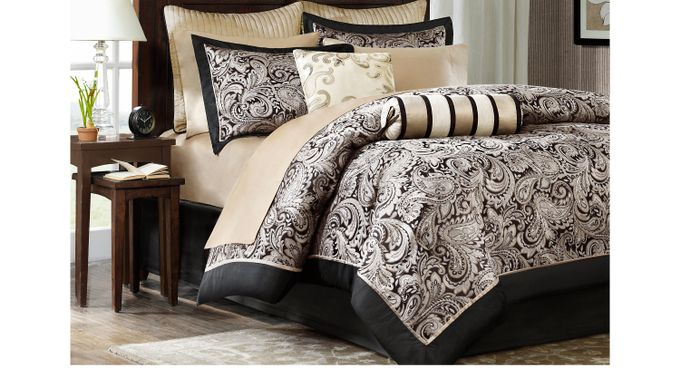 Cayla Black 12 Pc King Comforter Set