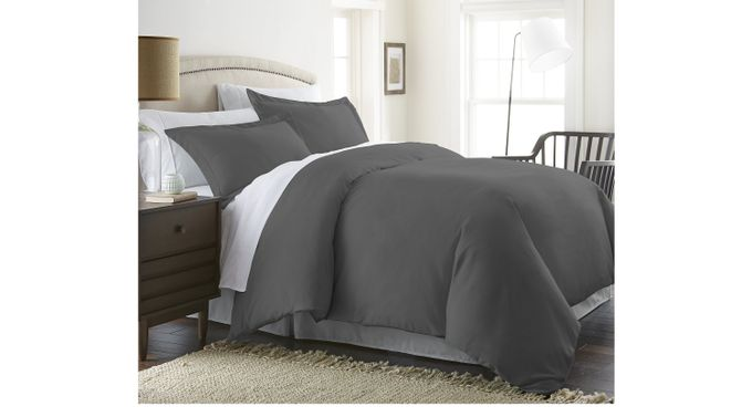 Belden Landing I Gray 3 Pc Queen Duvet Set