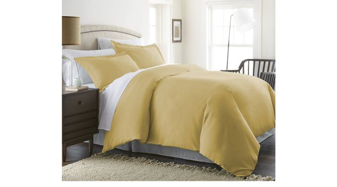 Belden Landing I Yellow 3 Pc Queen Duvet Set