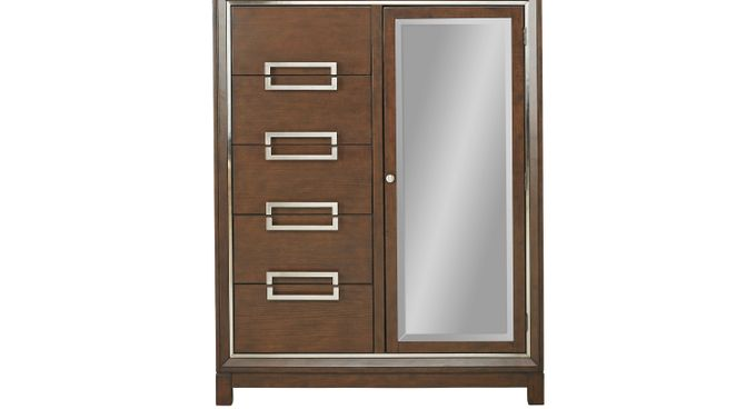 Newbury Park Merlot (reddish brown)  Door Chest - Contemporary