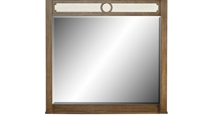 Harlowe Brown Mirror - Contemporary