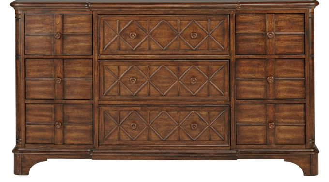 Bondi Beach Brown Breakfront Dresser