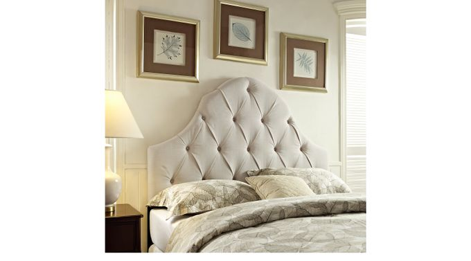Casden Cream Full/Queen Upholstered Headboard