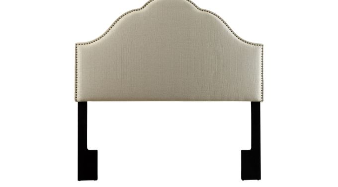 Jemma Oatmeal (light gray)  Queen Upholstered Headboard