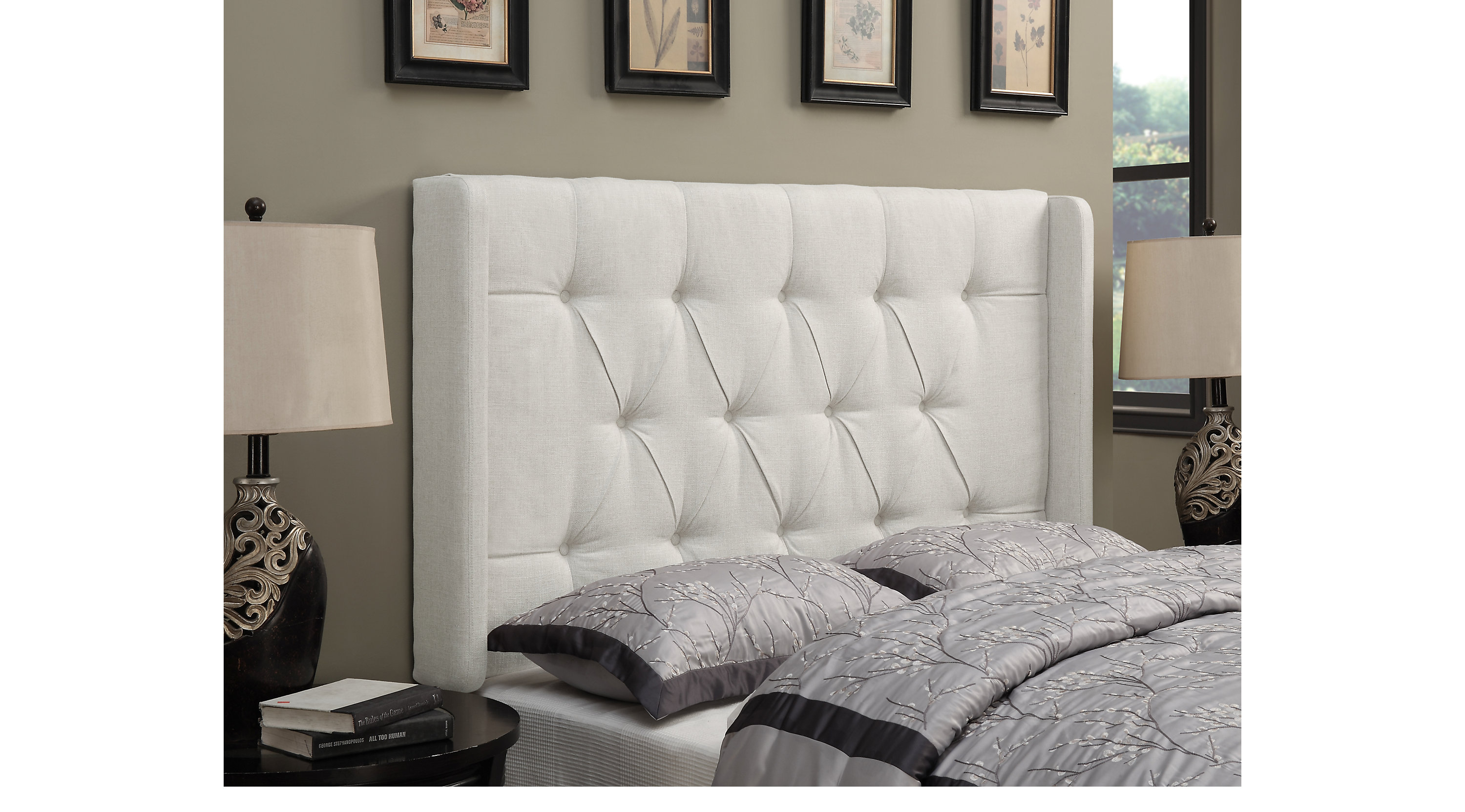 skyline reviews headboard pdx slipcovered furniture tufted upholstered wayfair wingback