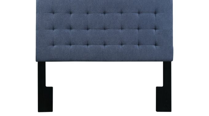 Tilden Park Blue Queen Upholstered Headboard