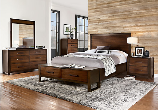 Abbott Hazelnut 5 Pc Queen Panel Bedroom With Storage