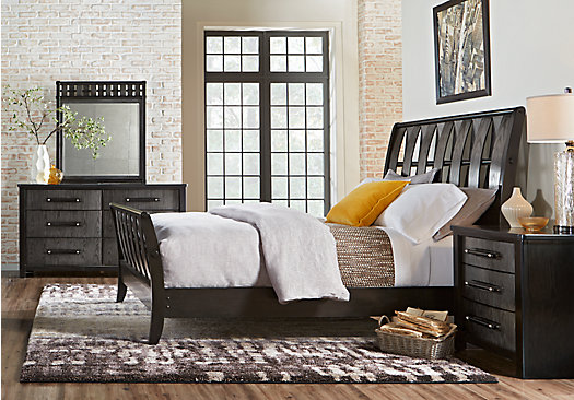 Bedford Heights Gray 5 Pc King Sleigh Bedroom