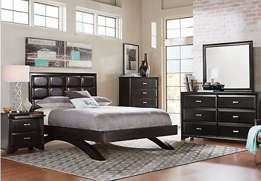 Belcourt Black 5 Pc King Platform Bedroom