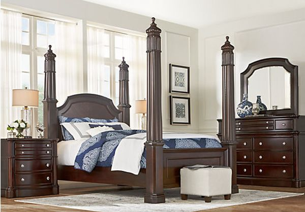 cherry bedroom furniture. Dumont Cherry 5 Pc King High Poster Bedroom Furniture