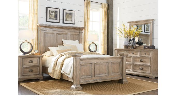 Eric Church Highway To Home Arrow Ridge Hickory 7 Pc King Bedroom - Panel - Traditional