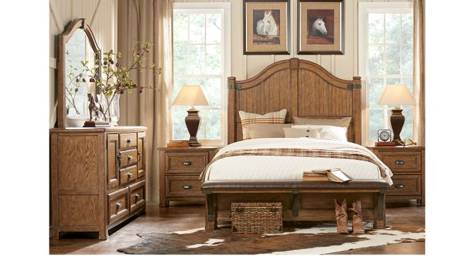Eric Church Highway To Home Heartland Falls Brown 5 Pc King Panel Bedroom