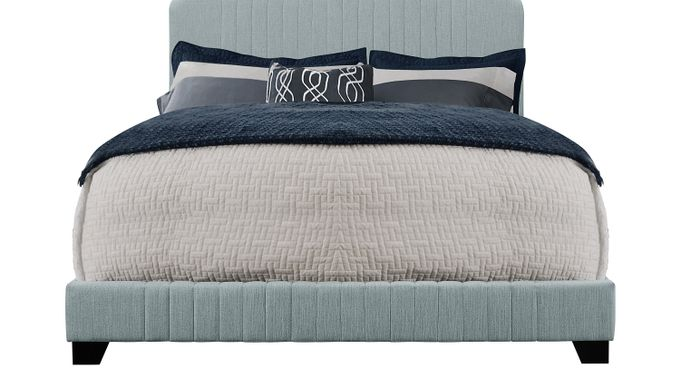 Addison Avenue Blue King Upholstered Bed