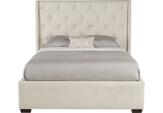 Alison Oatmeal (light gray) 3 Pc King Upholstered Bed - Contemporary ...