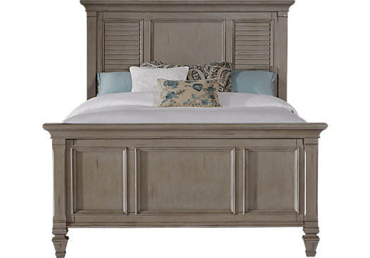 Belmar Gray 3 Pc King Panel Bed - Traditional
