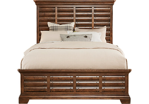 North Haven Brown 3 Pc King Panel Bed - Transitional