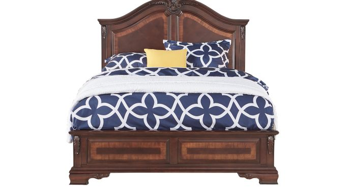 Cortinella Cherry 3 Pc King Panel Bed - Traditional
