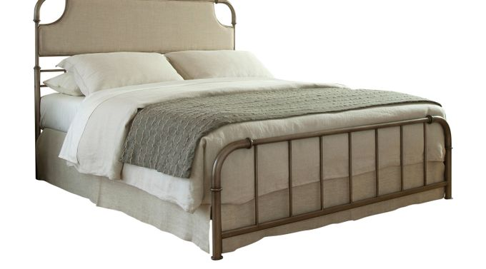 Dahlia Lane Stone (beige)  King Bed - Slat - Transitional