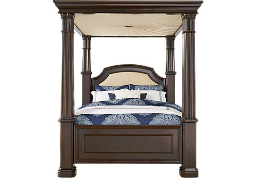 Dumont Cherry 5 Pc King Canopy Bed - Traditional