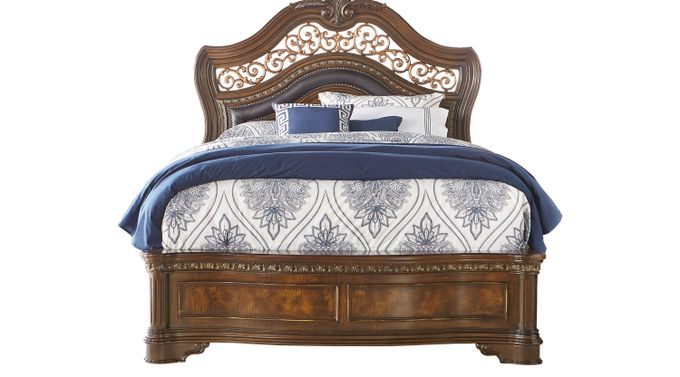 Handly Manor Pecan (grayish brown)  3 Pc King Bed - Panel - Traditional