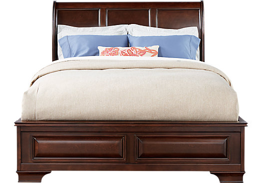 Mill Valley II Cherry 3 Pc King Sleigh Bed - Traditional