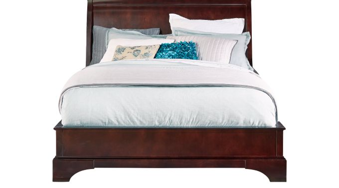 Whitmore Cherry 3 Pc King Bed - Platform - Traditional