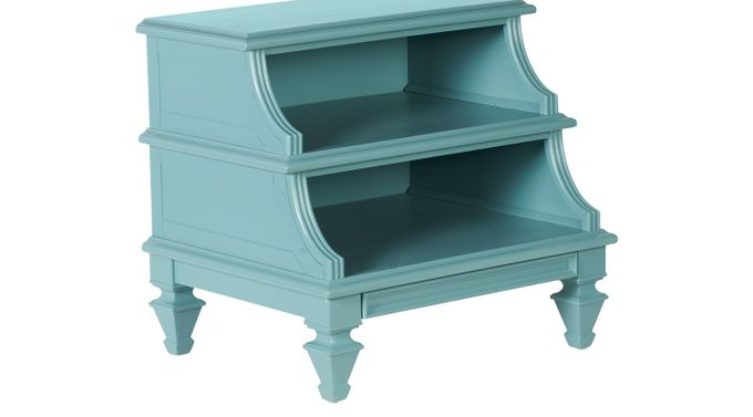 Belmar Blue Step Nightstand - Traditional