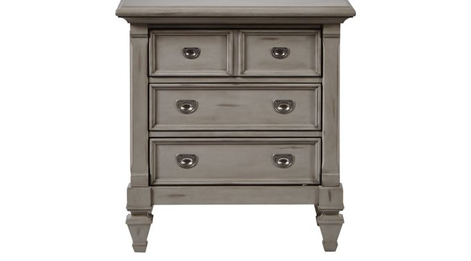 Belmar Gray Nightstand - Traditional