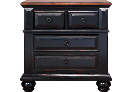 Berkshire Lake Black Nightstand Casual
