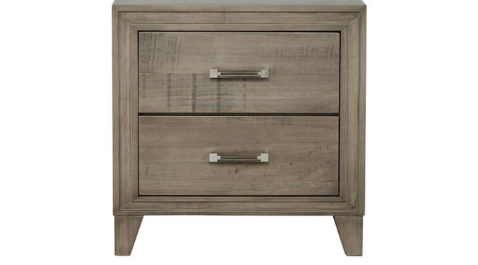 Crestwood Creek Gray Nightstand - Contemporary