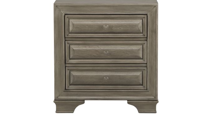 Mill Valley II Gray Nightstand - Traditional