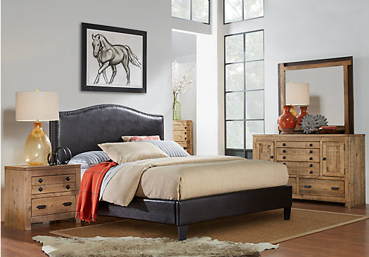 driftwood bedroom furniture ash gray er driftwood brownish gray 5 pc bedroom 11484
