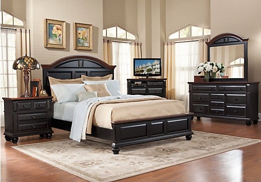 Lake Black 7 Pc Queen Panel Bedroom - Casual