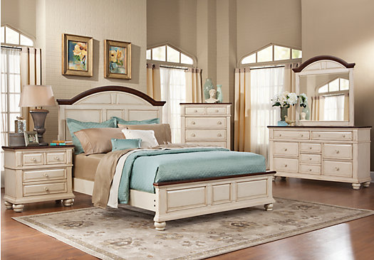 Berkshire Lake White 5 Pc Queen Panel Bedroom Casual