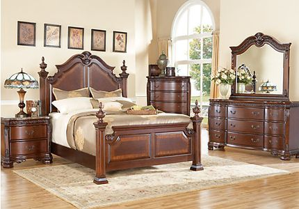 poster bedroom sets. Cortinella Cherry 7 Pc Queen Poster Bedroom Sized Sets