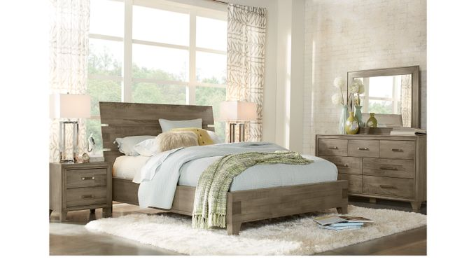 Crestwood Creek Gray 5 Pc Queen Panel Bedroom - Contemporary
