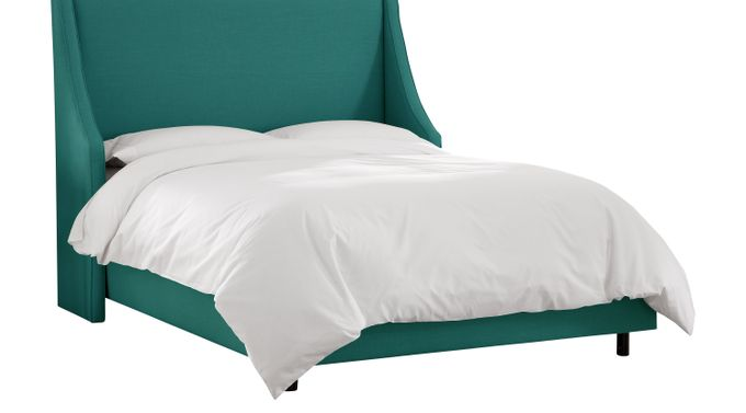 Aviana Laguna (teal)  Queen Bed - Upholstered - Contemporary