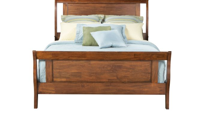 Bedford Pines Brown 3 Pc Queen Bed - Sleigh - Rustic