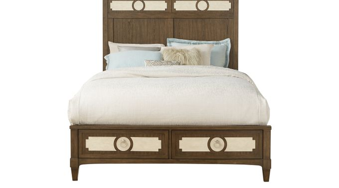 Harlowe Brown 3 Pc Queen Storage Bed - Panel - Contemporary